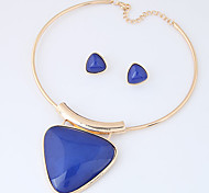 Jewelry Set Euramerican Fashion Resin Alloy Triangle Shape Necklace Earrings For Party Daily 1set