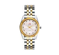 Men's Fashion Watch Quartz Alloy Band Gold White Gold
