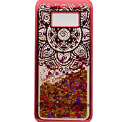 For Samsung Galaxy S8 Plus S8 TPU Material Plating Laser Carving Quicksand Phone Case S7 Edge S7