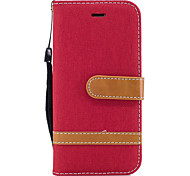 Для яблока iphone 7 7 плюс 6s 6 плюс se 5s 5 обложка чехла джинсовая модель сшивание цвет карта стент pu материал чехол для телефона