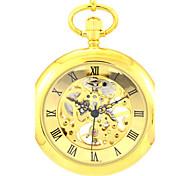 Мужской Часы со скелетом Карманные часы Механические часы Кварцевый С автоподзаводом сплав Группа Золотистый