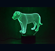 Christmas Lion Turtles Touch Dimming 3D LED Night Light 7Colorful Decoration Atmosphere Lamp Novelty Lighting Christmas Light