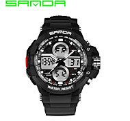 SANDA Men's Men Sport Watch Dress Watch Digital Watch Quartz DigitalCalendar Water Resistant / Water Proof Dual Time Zones Alarm
