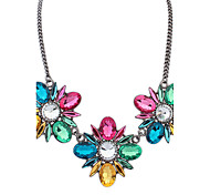 Women's Strands Necklaces Jewelry Jewelry Rhinestone Alloy Euramerican Fashion Personalized Light Green Light Blue Rainbow Yellow Jewelry