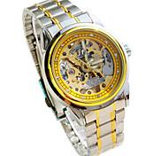 Herren Mechanische Uhr Quartz Legierung Band Silber