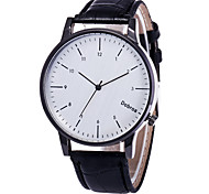 Мужской Модные часы Китайский Кварцевый Кожа Группа Элегантные часы Черный Коричневый