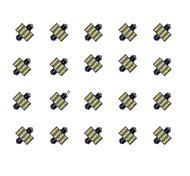 20PCS 31MM 16*2835 SMD LED Car Light Bulb White Light DC12V