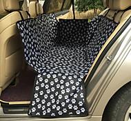 Кошка Собака Чехол для сидения автомобиля Животные Коврики и подушки Компактность Двусторонний Дышащий Складной Массаж Черный