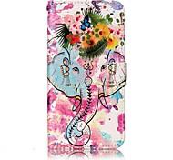 Для lg g6 чехол для карандаша слон и цветы узор рельефный блеск pu материал карта стент кошелек телефон футляр