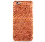 Для яблока iphone 6 6s тисненый узор случае задняя крышка случае деревянное зерно геометрический рисунок твердый цельный лес