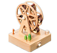 Music Box Cylindrical Holiday Supplies Wood Unisex