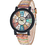 Жен. Модные часы Наручные часы Кварцевый / PU Группа Cool Повседневная Черный Белый