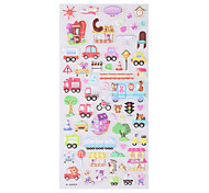 All kinds of cute animals cars food sticky paper.  Random delivery 2P.