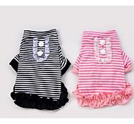 Собака Футболка Одежда для собак Очаровательный На каждый день Мода В клетку Черный Розовый