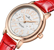 Women's Fashion Watch Quartz Leather Band White Red White Gold