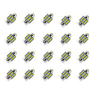 20Pcs 31MM 12*2835 SMD LED Car Light Bulb White Lighting DC12V