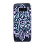 Для samsung galaxy s8 плюс s8 крышка корпуса datura цветы рисунок капли клей лак высокое качество тпу материал чехол для телефона s7 edge
