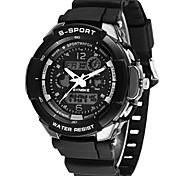 Men's Fashion Watch Quartz Silicone Band Black