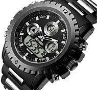 Men's Sport Watch Fashion Watch Quartz Stainless Steel Band Black
