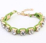 Han Edition Weave  Diamond-Encrusted Bracelet Sweet Bracelet