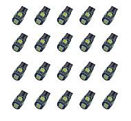 20pcs t10 расшифровывание 5 * 5050 smd chalkboard вело свет электрической лампочки dc12v электрической лампочки автомобиля