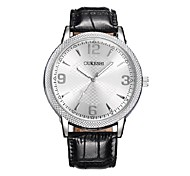 OUKESHI  Genuine High-End Men'S Watches Brand Casual Sen'S Leather Waterproof Quartz Watch