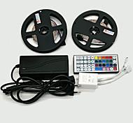 Z®zdm 2 x 5m 300x3528 smd rgb luz de tira led y 44key control remoto y 6a eu / au / us / ukpower suministro (ac110-240v)