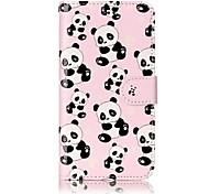Para huawei p10 lite p8 lite (2017) material de couro pu panda padrão caso telefone de alívio p10 mais p10 p9 lite p8 lite