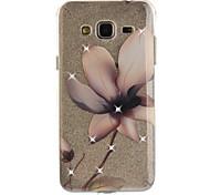 Para a galáxia j2 j3 j5 de Samsung (2016) caso superior do caso magnolia da flor teste padrão hd pintou o material do tpu do tdu material