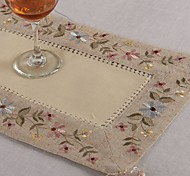 Rectangular Embroidered Placemat Line Embroidery Doily Placemat Cup mat 28x42cm