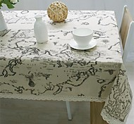 1Pcs  140*160Cm   Table Cloth World Map High Quality Lace Tablecloth Decorative Elegant Table Cloth Linen Table Cover