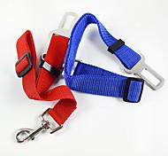 Trelas Mãos Leash gratuito Cinto de Segurança para Cães / Cinto de segurança Retratável Segurança Treinamento Para o Carro SólidoTecido