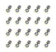 20Pcs T10 8*3528 SMD Chalkboard Decoding LED Car Light Bulb White Light DC12V