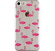 Для яблока iphone 7 7 плюс 6s 6 плюс se 5s 5 крышка фламинго картины капли клея лак высокое качество тпу материал чехол для телефона