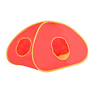 Cat Bed Pet Baskets Solid Foldable Tent Red