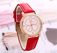 Women's Fashion Watch Chinese Quartz PU Band Blue Red Purple