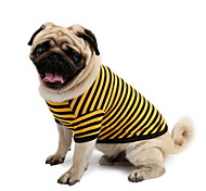 Perros Camiseta Azul Ropa para Perro Verano Rayas