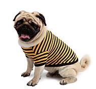 Собаки Футболка Синий Одежда для собак Лето Полоски