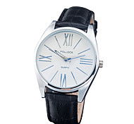 Unisex Dress Watch Fashion Watch Chinese Quartz Leather Band Casual Black White Brown Rose Black/White Brown Fuchsia Black White