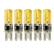 kwb 4w e14 g9 g4 светодиодные двухконтактные лампы t 4 cob 450 lm теплый белый / белый диммируемый ac 220-240 v 5 шт.