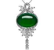 Жен. Ожерелья с подвесками Изумруд Бижутерия Изумрудный Сплав Мода Euramerican Простой стиль бижутерия Бижутерия Назначение Свадьба Для