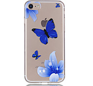 Para iphone 7 7plus 6s 6plus 5s 5 material de borracha de relevo de padrão de flores de borboleta não funciona na caixa do telefone