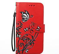 Для lg k8 k7 корпус крышка бабочка цветы шаблон pu материал карта стент кошелек телефон корпус g6