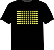 Light Up LED T-shirts Sound activated LED lights Cotton Novelty 2 AAA Batteries