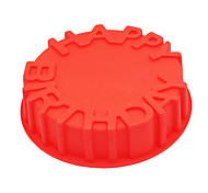 Happy Birthday Cake Mold Silicone Baking Pan Mould Party Kids Funny Cute Cool Kitchen Baking Tools