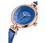 Women's Fashion Watch Quartz Water Resistant / Water Proof Leather Band Casual Black White Blue Brown Pink