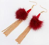The European and American fashion flower ball earrings