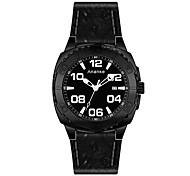 Men's Dress Watch Fashion Watch Quartz Genuine Leather Band Black