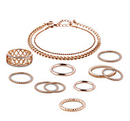 Lucky Doll Jewelry Set Unique Design Chrome Rose Gold Plated Circle For Party Birthday Business Gift Daily Casual Office & Career 1 Set Wedding Gifts
