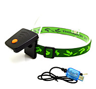 Lampes Frontales LED 300 Lumens 1 Mode LED Lithium-ion Mini Batterie Rechargeable Capteur infrarouge Urgence G-Sensor